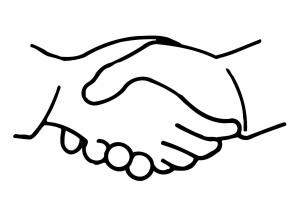 berjabat tangan